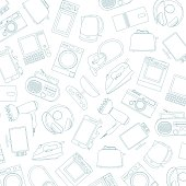 home electronic appliances isolated on white background