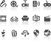 Home Entertainment features related vector icons for your design and application.