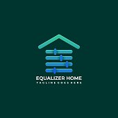 Home Equalizer Illustration Vector Template. Suitable for Creative Industry, Multimedia, entertainment, Educations, Shop, and any related business.