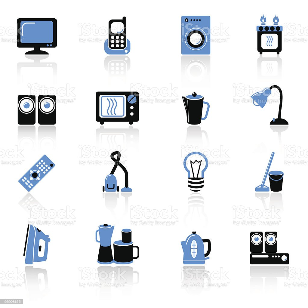 home equipment icons royalty-free home equipment icons stock vector art & more images of appliance