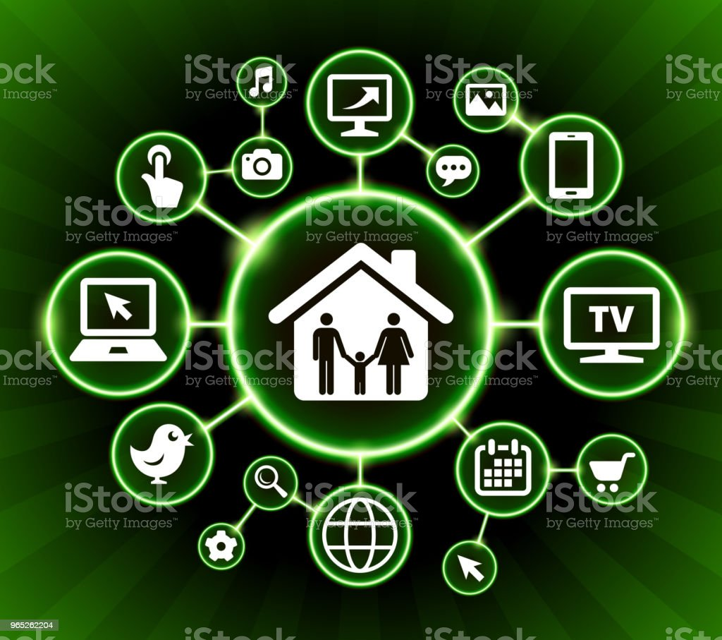 Home & Family Internet Communication Technology Dark Buttons Background royalty-free home family internet communication technology dark buttons background stock vector art & more images of backgrounds