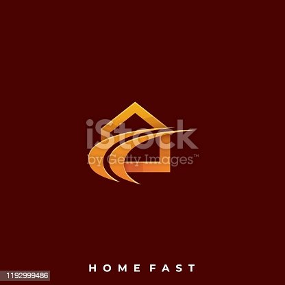 istock Home Fast Illustration Vector Template 1192999486