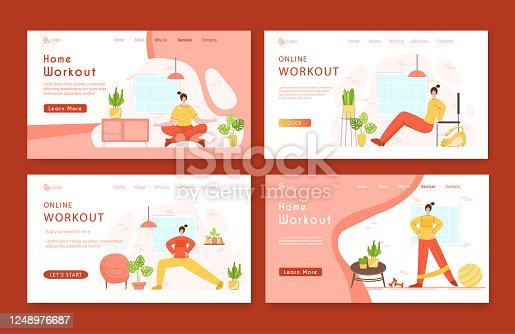 home fitness and workout indoor