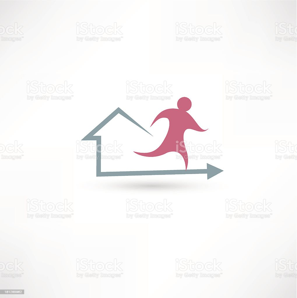 Home fitness icon royalty-free home fitness icon stock vector art & more images of activity