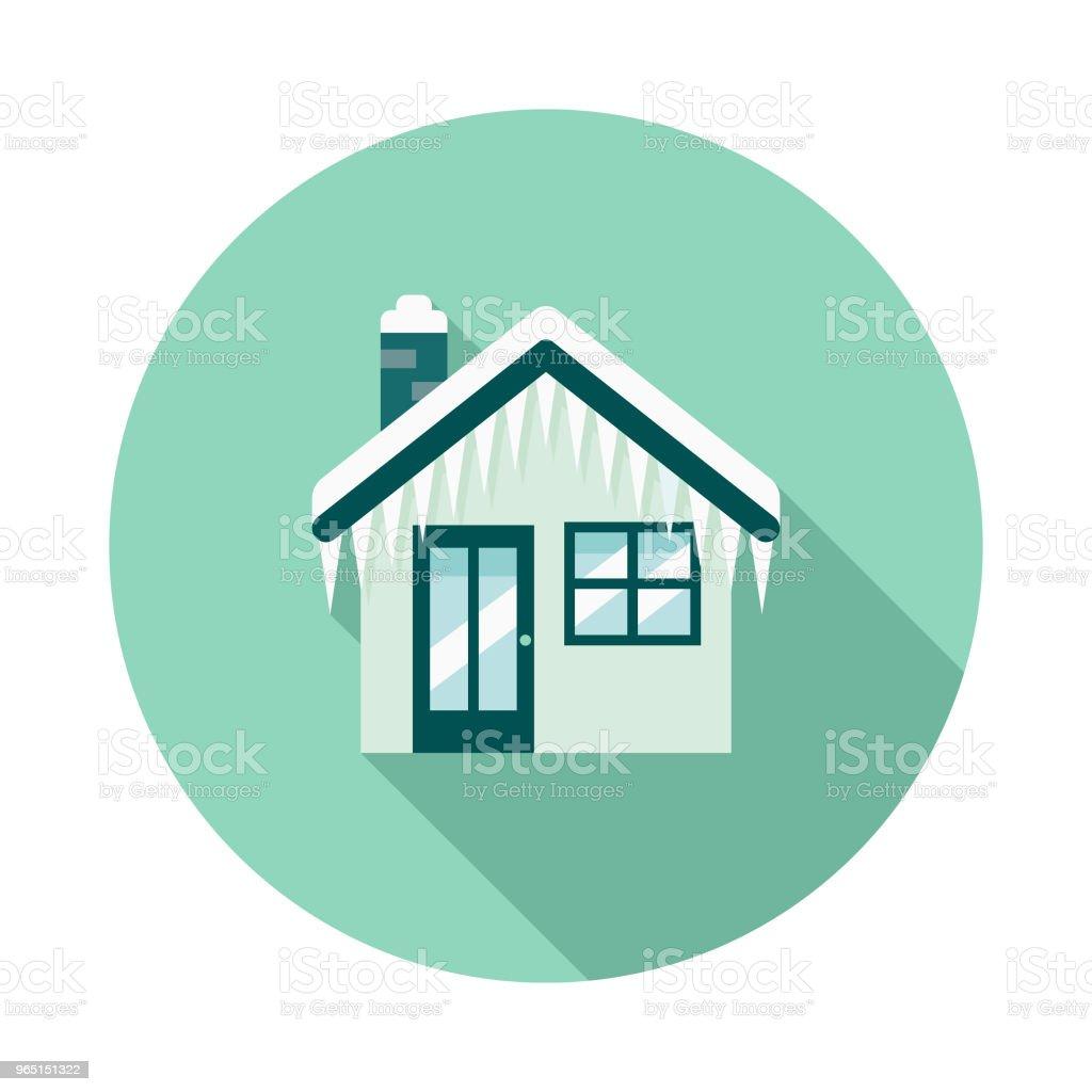 Home Flat Design Winter Icon with Side Shadow home flat design winter icon with side shadow - stockowe grafiki wektorowe i więcej obrazów bez ludzi royalty-free