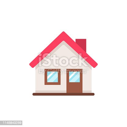 istock Home Flat Icon. Pixel Perfect. For Mobile and Web. 1145840259
