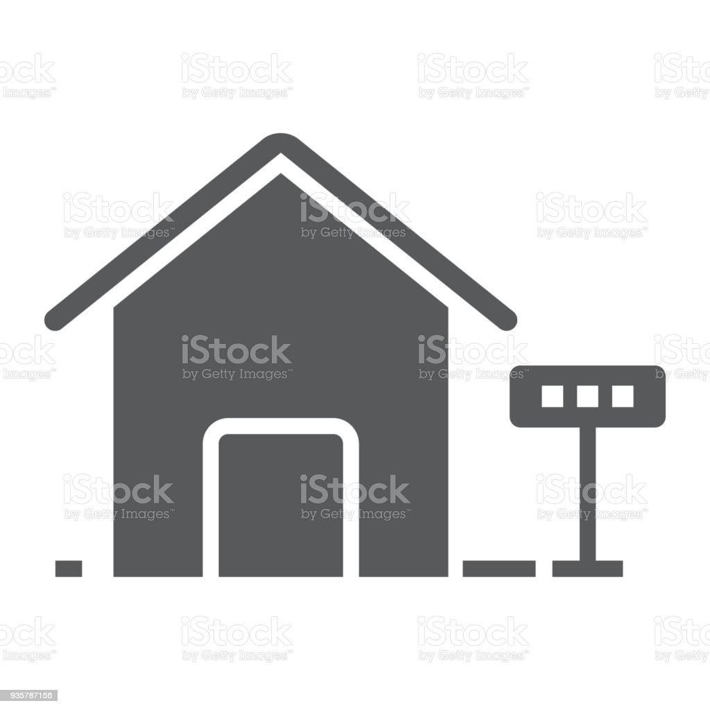 Haus Zur Miete Glyphe Icon Immobilien Und Haus ...