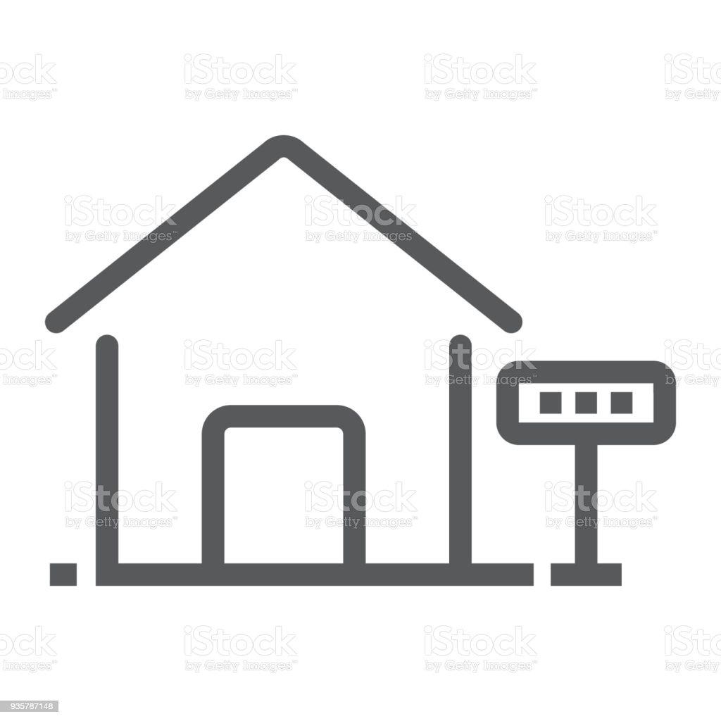 Haus Zur Miete Liniensymbol Immobilien Und Haus ...