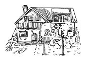 Home For Sale Sign Drawing