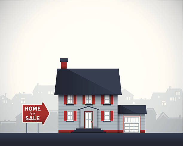 Home for Sale Home for sale background with space for text. EPS 10 file. Transparency effects used on highlight elements. home ownership stock illustrations