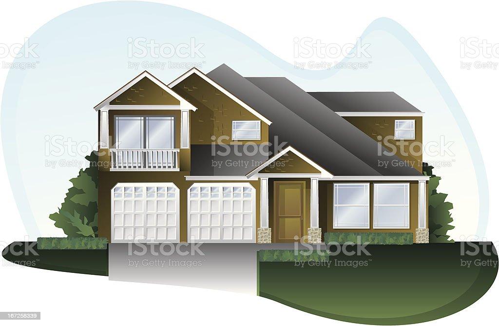 home front vector art illustration
