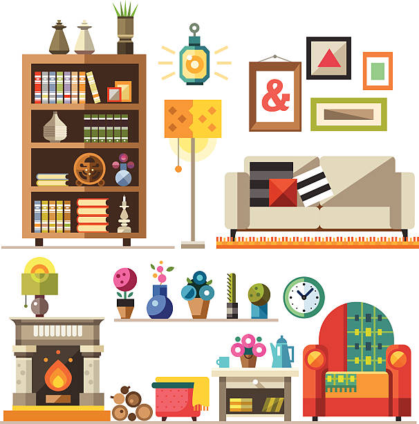 Kitchen Room Furniture Clipart: Royalty Free Living Room Clip Art, Vector Images