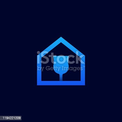 istock Home Glass Design Illustration Vector Template 1194221209