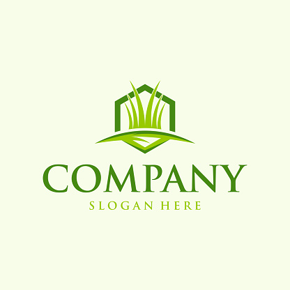 Home Green Grass Logo Design clean, modern and easy to spot suitable for your company