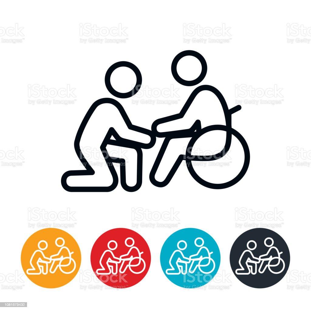 Home Health Care Icon vector art illustration