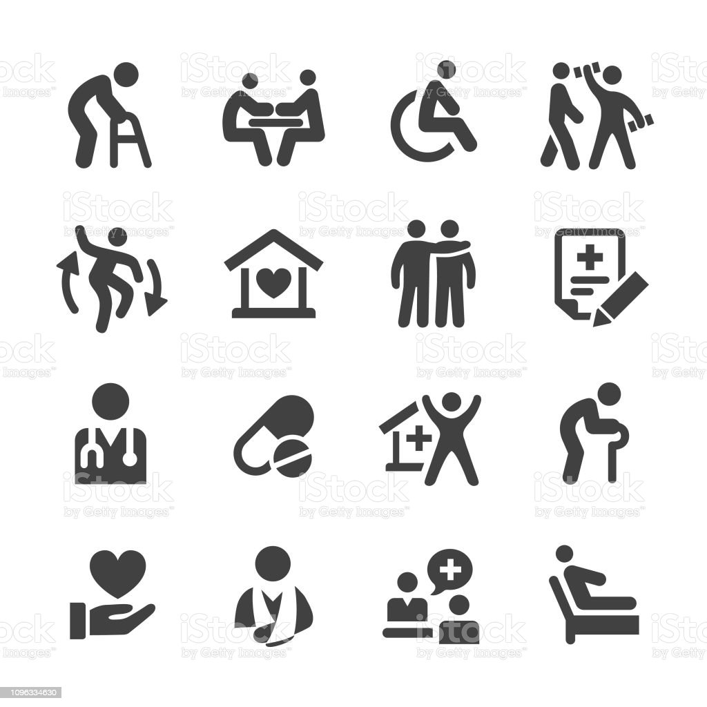 Home Health Care Icons Acme Series Stock Illustration - Download