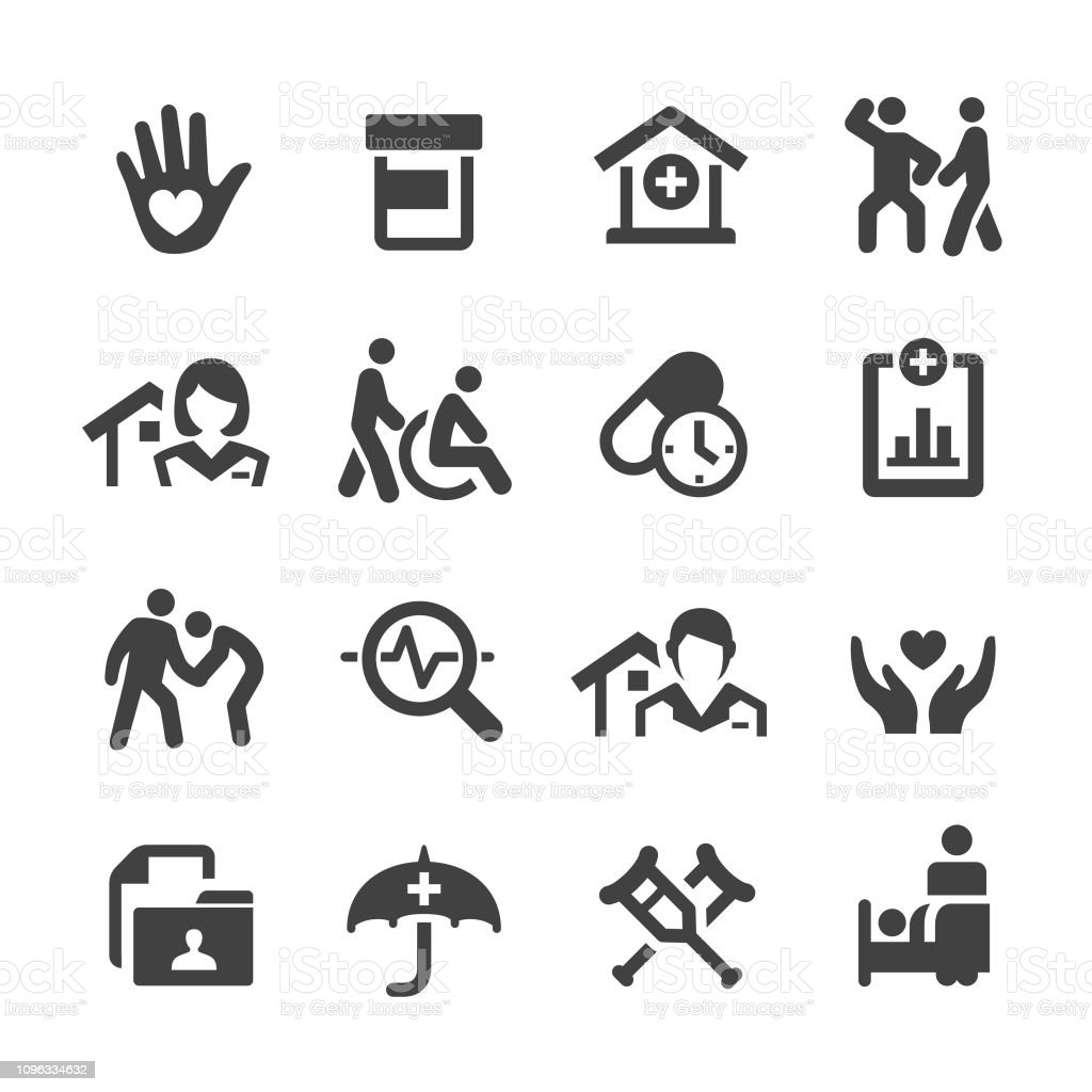 Home Health Care Icons Set Acme Series Stock Vector Art & More