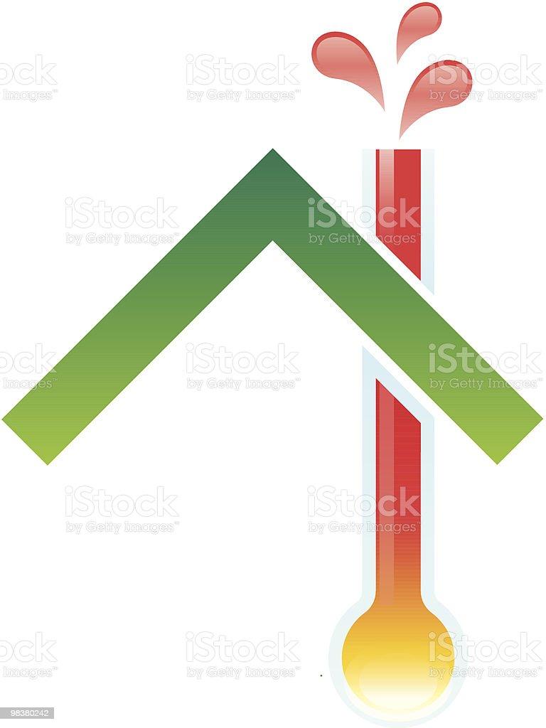 Casa di riscaldamento casa di riscaldamento - immagini vettoriali stock e altre immagini di ambiente royalty-free