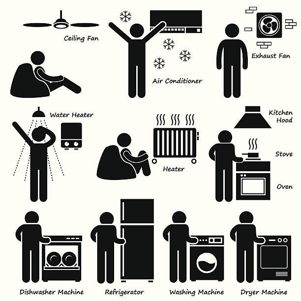 ハウスベーシックな電子機器のクリップアート - 楽しい 洗濯点のイラスト素材/クリップアート素材/マンガ素材/アイコン素材
