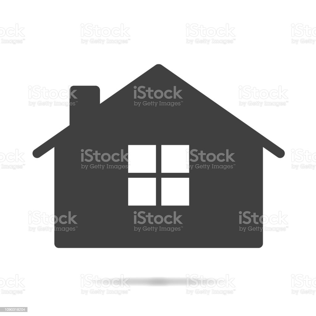 f674292aacee Abstract, Architecture, Art, Back, Black Color. Home House Icon Isolated on White  Background royalty-free ...