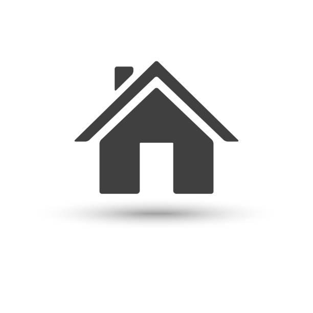 ikona domu izolowana na białym tle - house stock illustrations