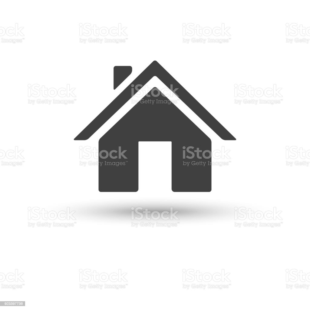 Home house icon isolated on white background vector art illustration