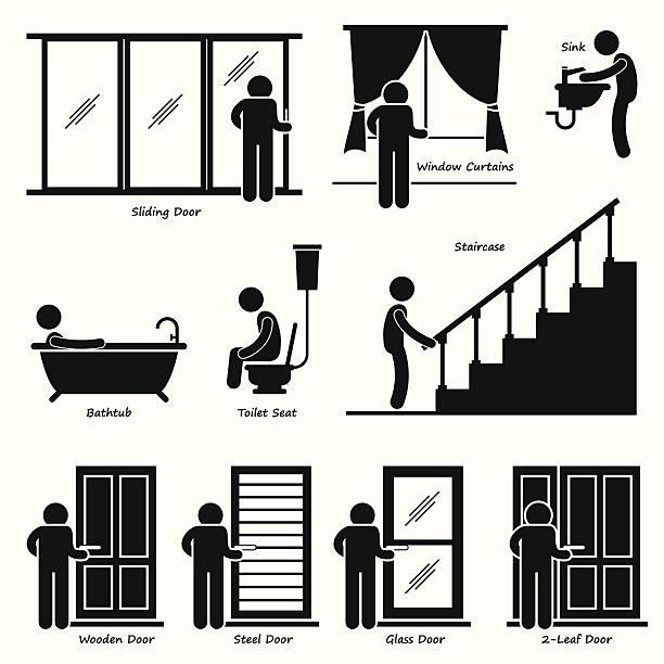 ホームハウス屋内設備のクリップアート - 体 洗う点のイラスト素材/クリップアート素材/マンガ素材/アイコン素材