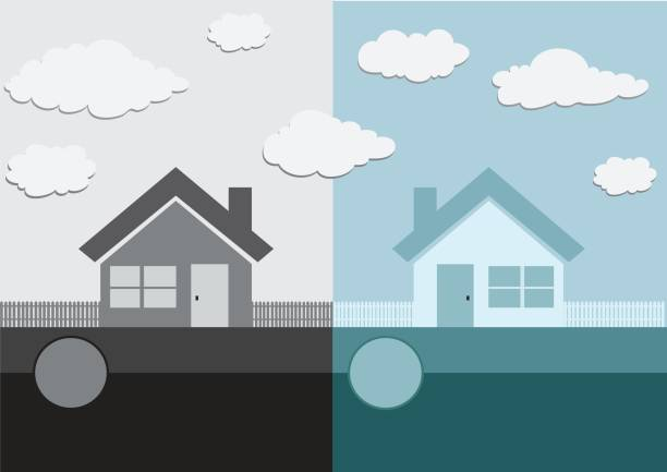 Home icon and Real estate concept vector art illustration