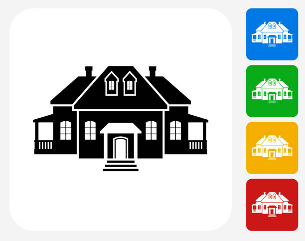 Top 60 Colonial House Clip Art Vector Graphics And