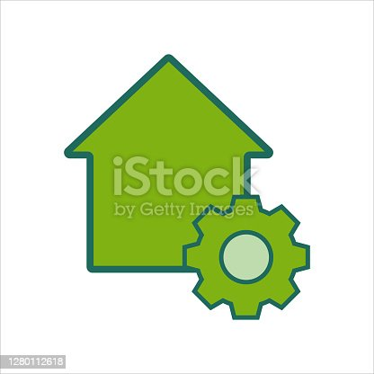 istock home icon. home icon with . home icon concept for mobile and web design, design element. home icon logo illustration. 1280112618