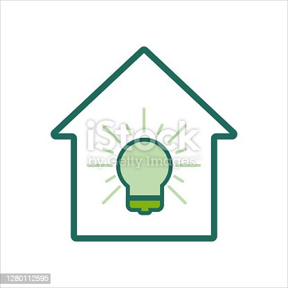 istock home icon. home icon with idea. home icon concept for mobile and web design, design element. home icon logo illustration. 1280112595