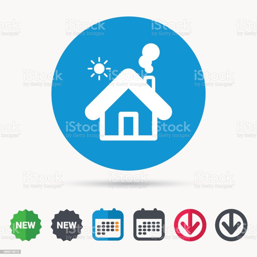 Home Icon House Building Sign Stock Illustration Download Image Now Istock