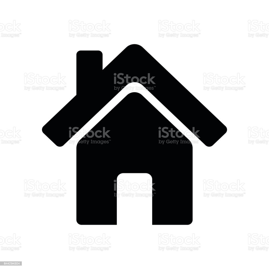 home icon isolated vector vector art illustration