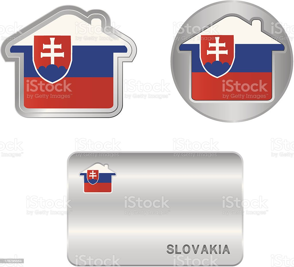 Home icon on the Slovakia flag royalty-free home icon on the slovakia flag stock vector art & more images of arranging