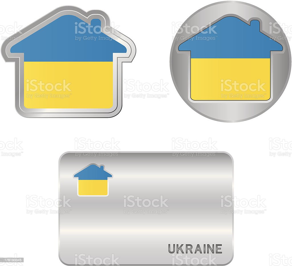 Home icon on the Ukraine flag royalty-free home icon on the ukraine flag stock vector art & more images of arranging