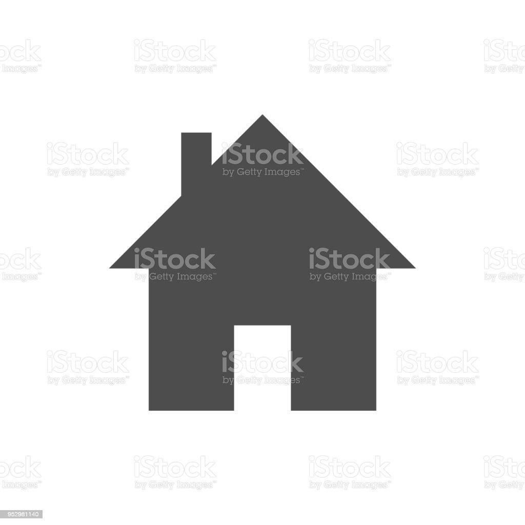 Home icon vector art illustration