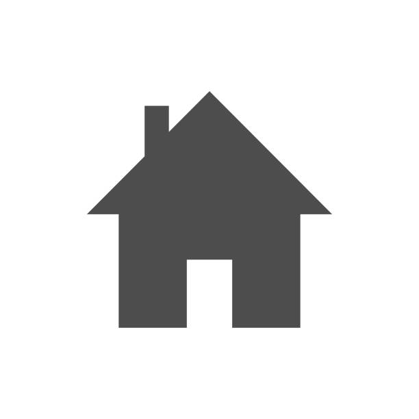 Home icon Vector graphic design artwork house stock illustrations