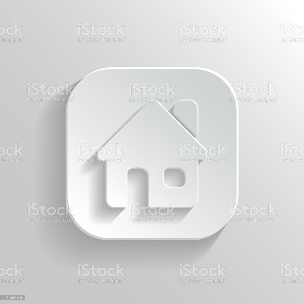 Home icon - vector white app button royalty-free stock vector art