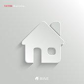 Home icon - vector white app button
