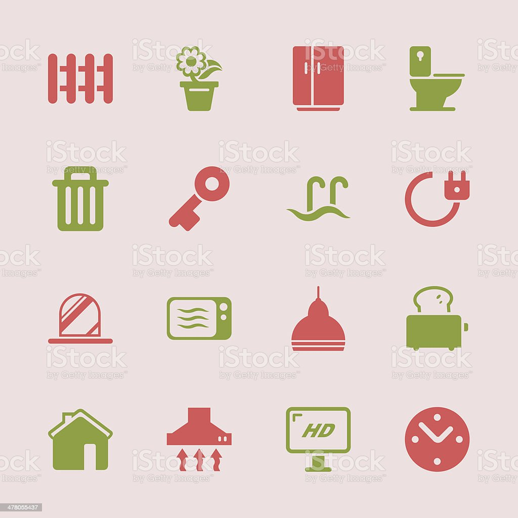 Home Icons - Color Series | EPS10 royalty-free stock vector art