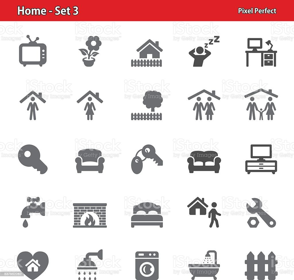 Home Icons - Set 3 vector art illustration