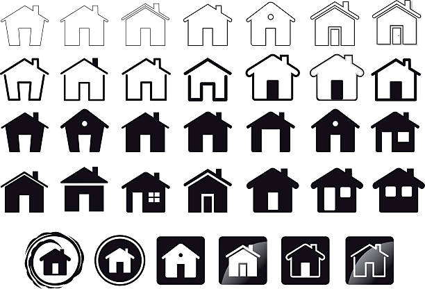 home icons - home stock illustrations