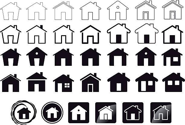 Iconos de casa - ilustración de arte vectorial