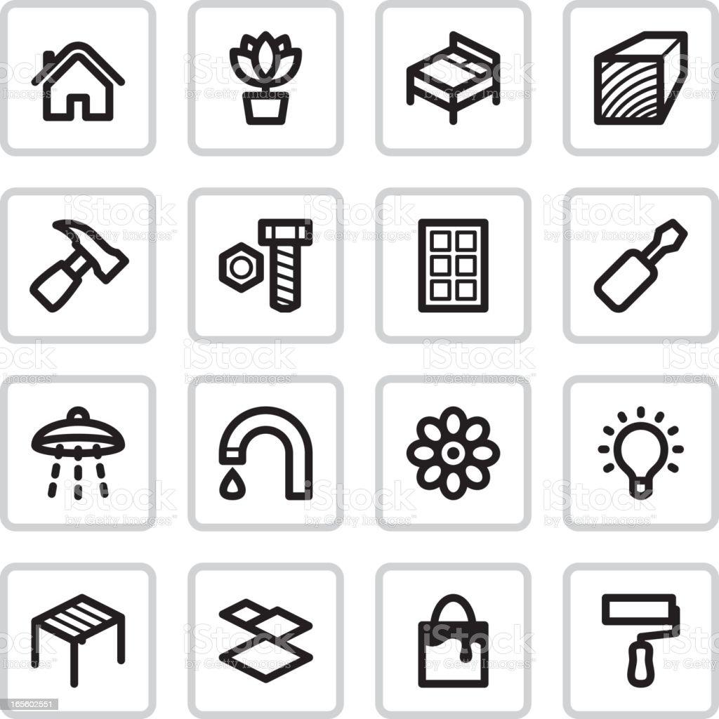 Home Improvement Icons | Black vector art illustration