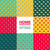 Home Improvement Seamless Pattern Set