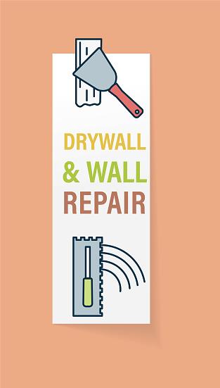 Home Improvement Wall Repair Website Sticker