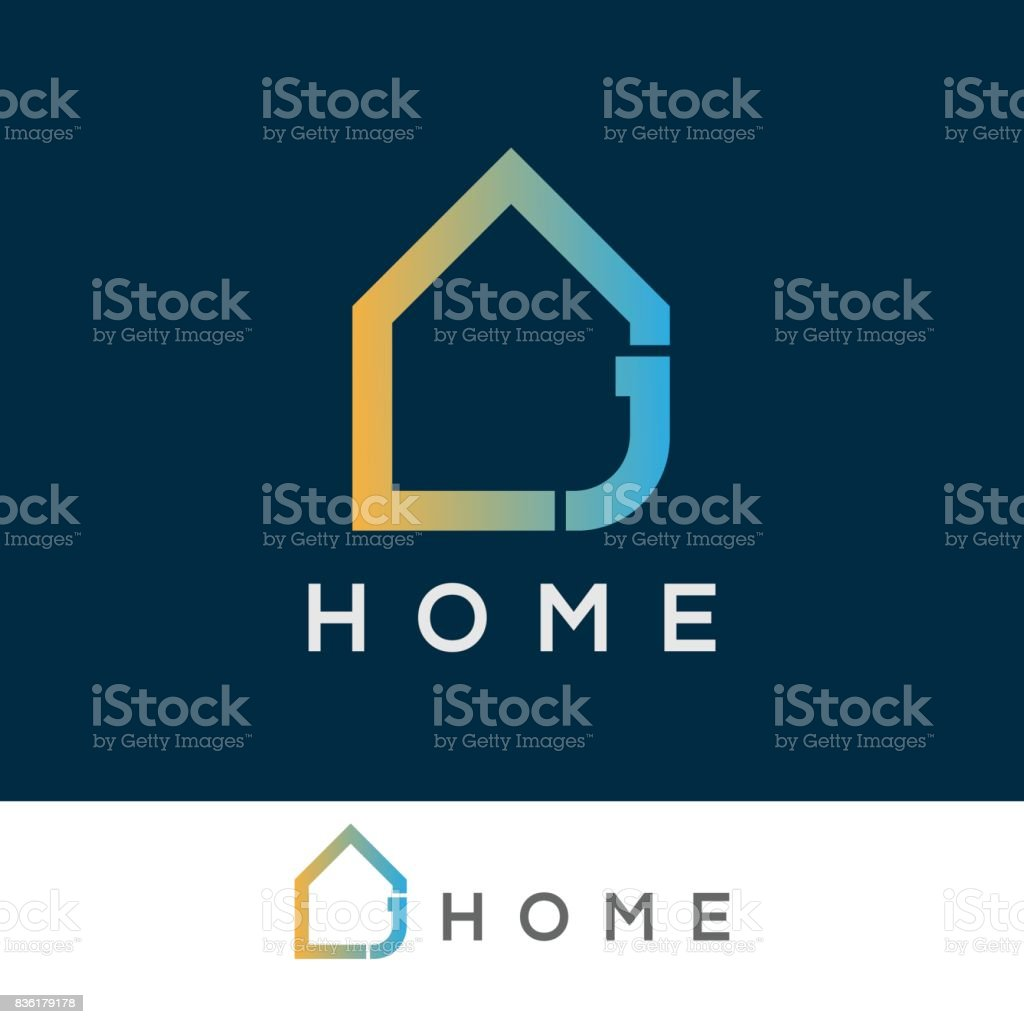 home initial Letter J icon design vector art illustration