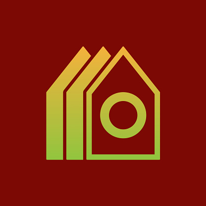 Home initial Letter O icon design