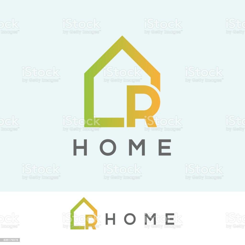 Ersten Buchstaben R Symbol Wohndesign Stock Vektor Art Und Mehr