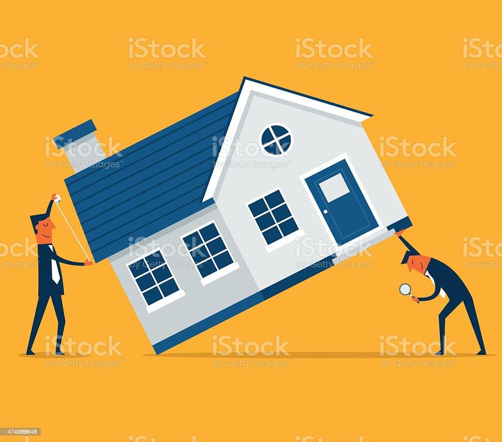 Home Inspection vector art illustration
